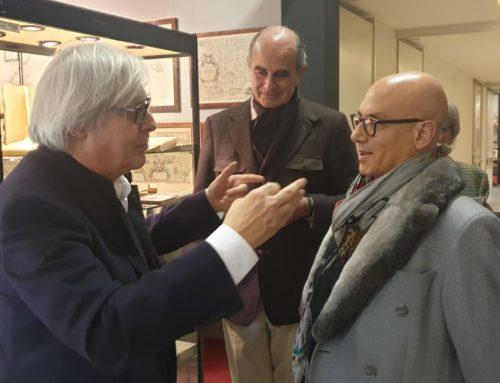 LA VISITA A SORPRESA DI VITTORIO SGARBI AD ANTIQUA Il vino come espressione d'arte e la maestria dei prodotti DOP della Liguria
